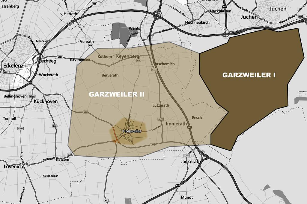 Karte garzweiler 01