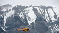 Germanwings absturzstelle gebirge hubschrauber afp