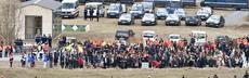 Germanwings absturzstelle flaggen afp