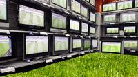 Fernseher und rasen