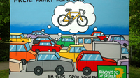 Gruene fahrrad